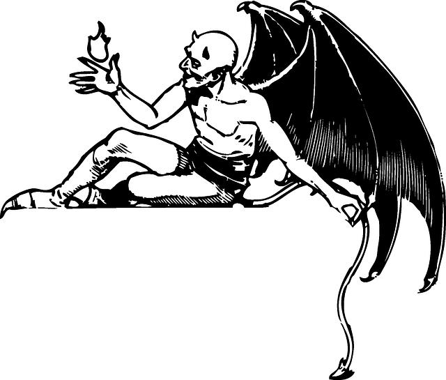 羽の生えた悪魔