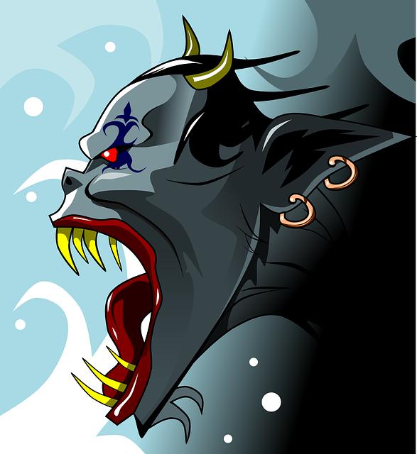 悪魔のイラスト