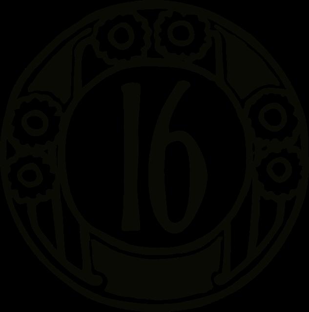 数字の16