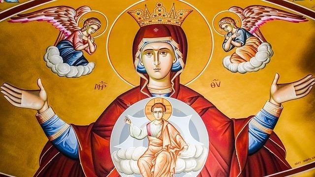 天使からお告げを受ける女帝
