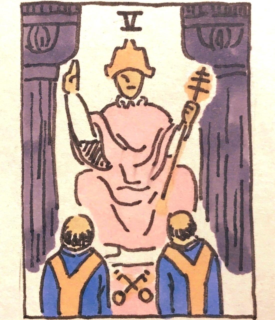タロット教皇の寓意画