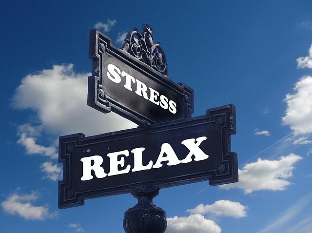 ストレスとリラックスの標識