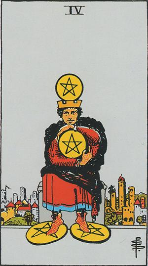 ペンタクルの4のカード