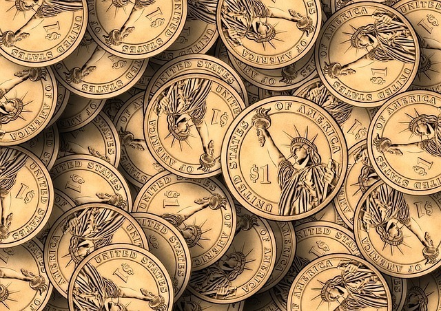 沢山の金貨