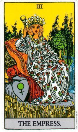 大アルカナのタロットカード 女帝