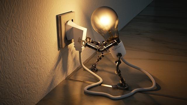コードをさす電球