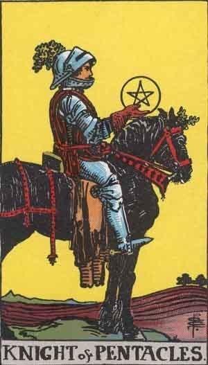 ペンタクルのナイトのカード