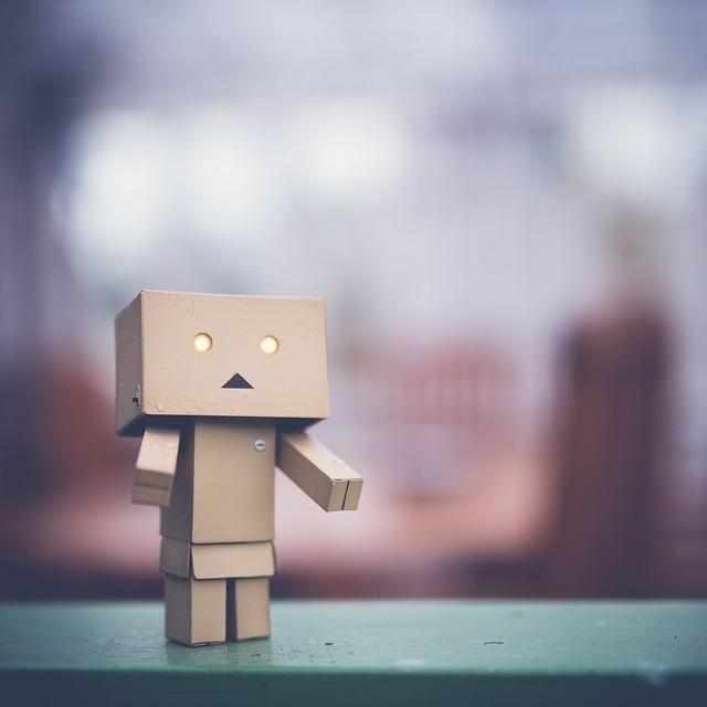 ぽかんとするロボット
