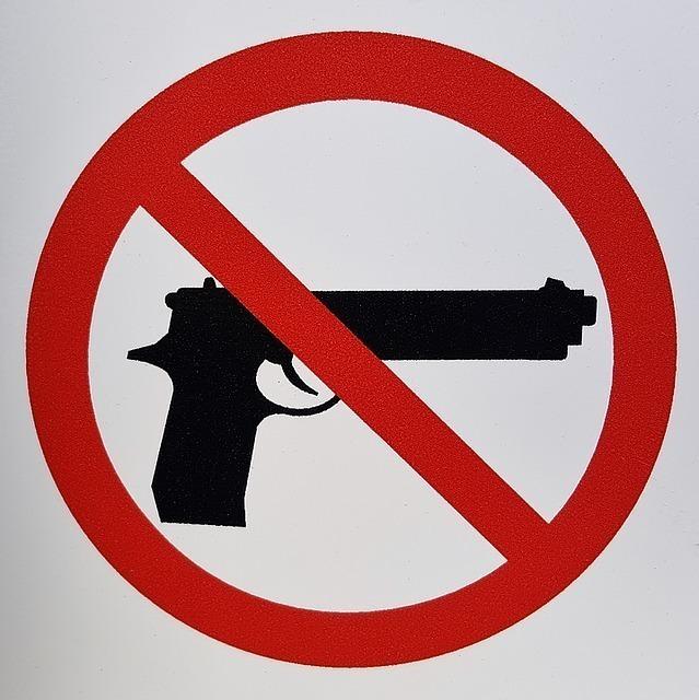 銃禁止のマーク