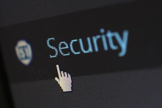 画面上のsecurityの文字