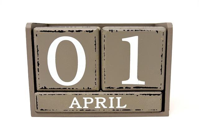 4月1日の暦