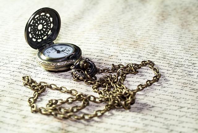 時代を感じさせる懐中時計