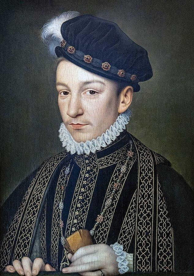 Wikipediaシャルル9世の肖像画