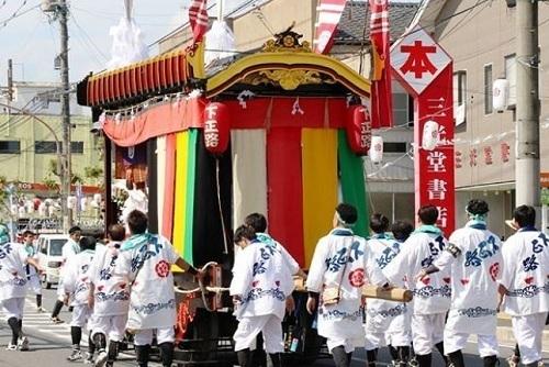 山鉾巡行白い祭り袢纏