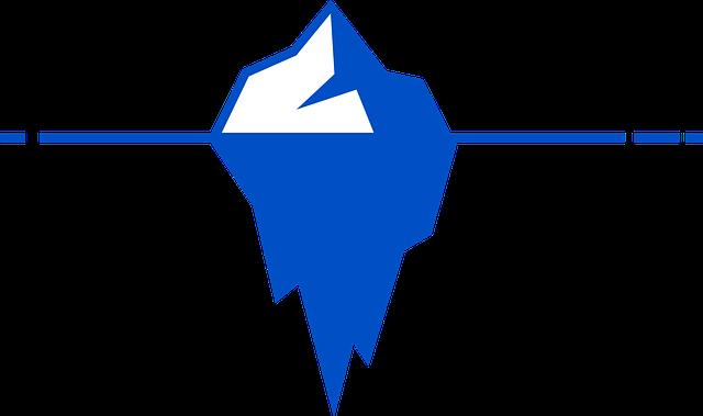氷山のロゴ