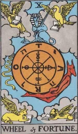 大アルカナ「運命の輪」のカードウェイト版