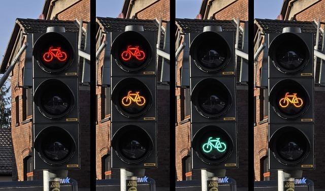 自転車の信号機