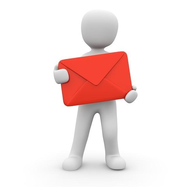 赤い手紙を持った人