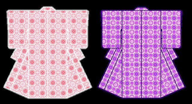 2枚の着物のイラスト