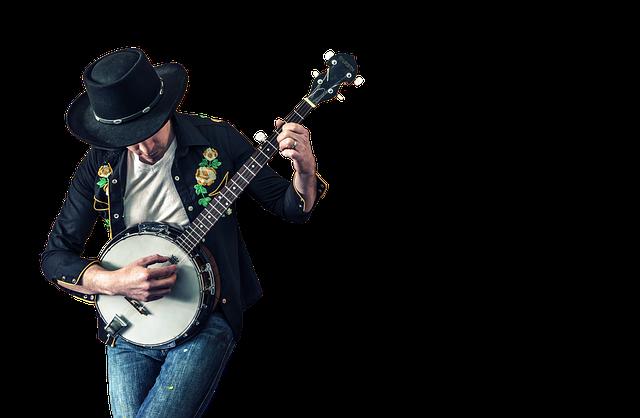 バンジョーを奏でる才能あふれる男性