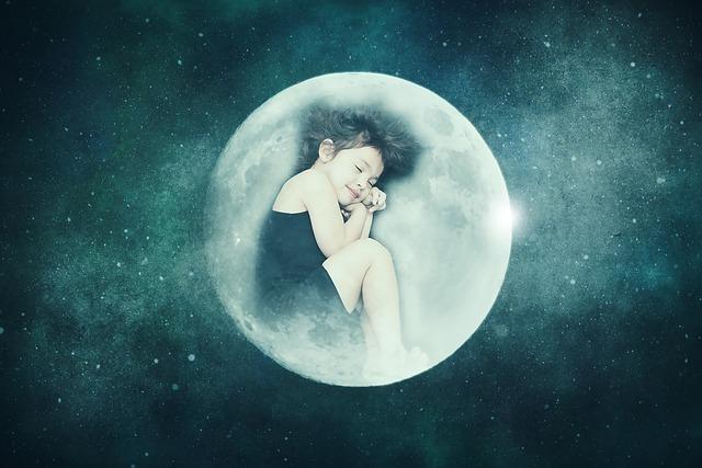 眠る少女の姿が映し出された月