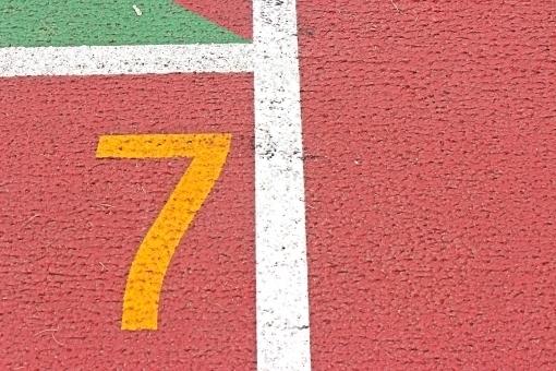 競技場の「7」レーン