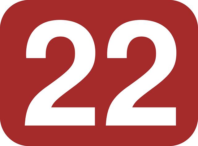 数字の22