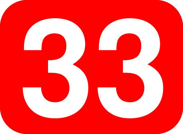 数字の33