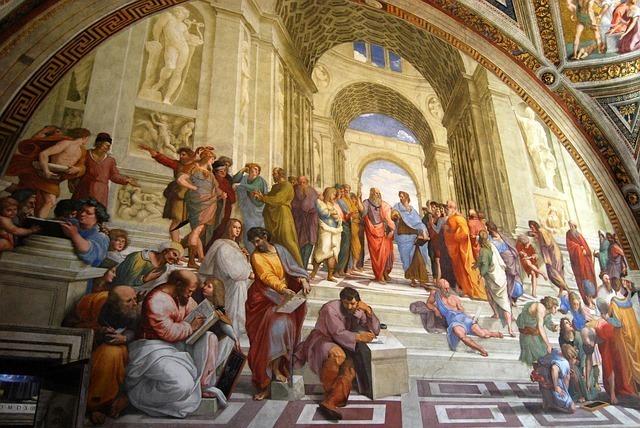 プラトンを中心としたギリシャの哲学者たち