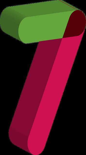 緑と赤でできた7