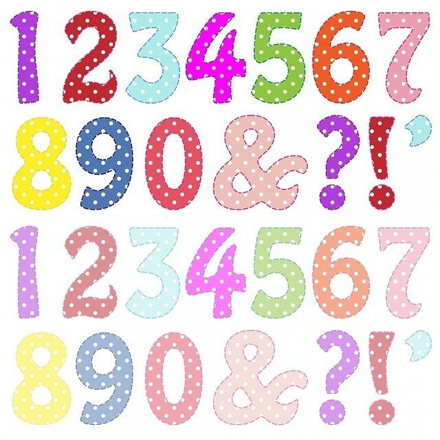 0から9までの数字と記号が並んだイラスト