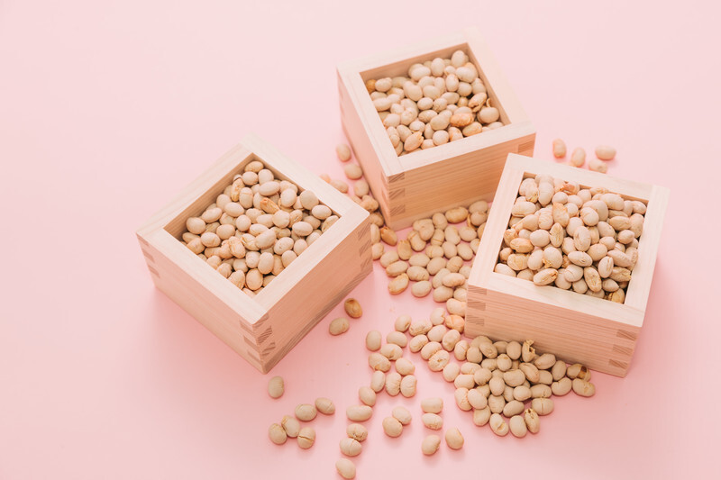 升に入った大豆