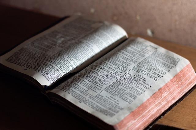 机に広げられた英語の辞書