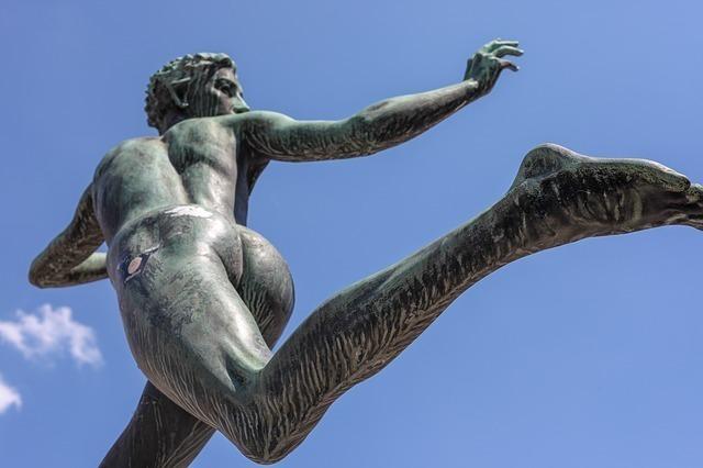 ランナーの彫像
