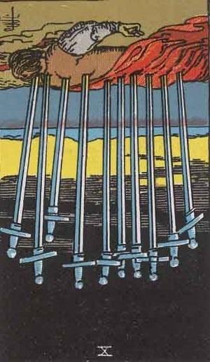 ソードの10 逆位置のカード