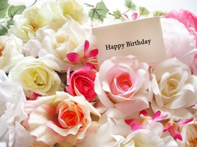 誕生日に送られてきたバラのプレゼント