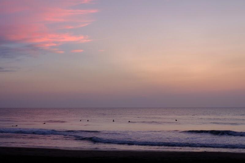千葉県の海岸から見える夕日