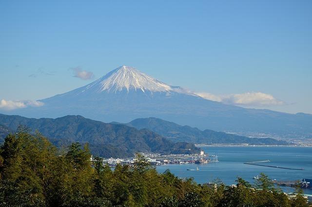 晴れ渡っている富士山