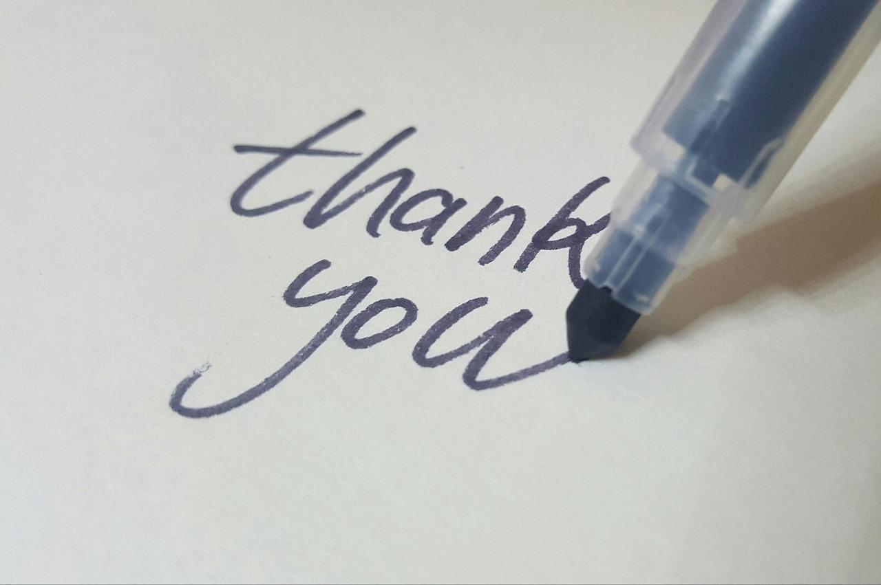 ありがとうは英語でthank you