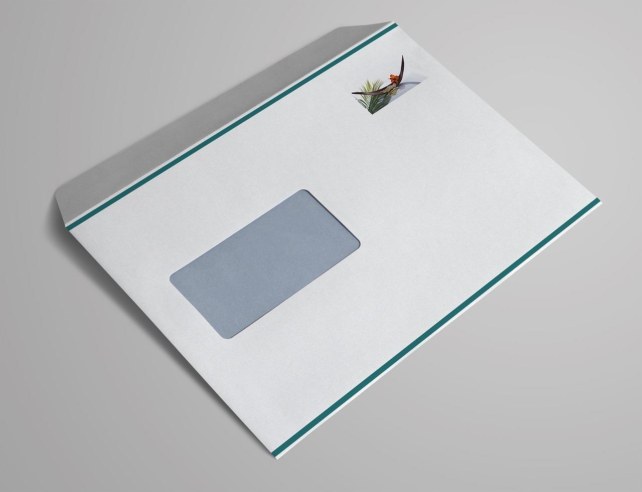 窓付きの封筒
