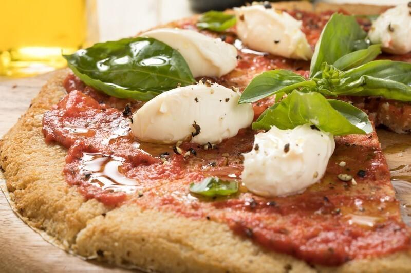 一切れなくなっているマルゲリータピザ