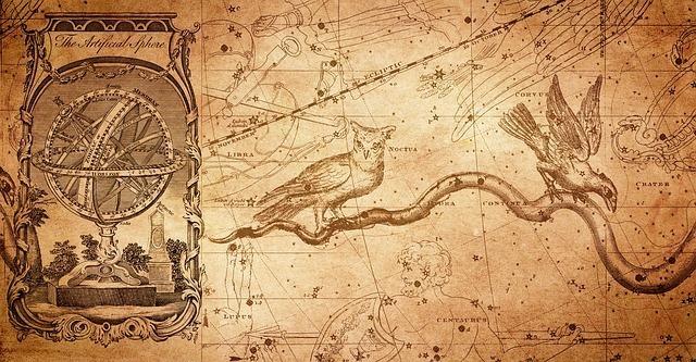 アンティークな星座図