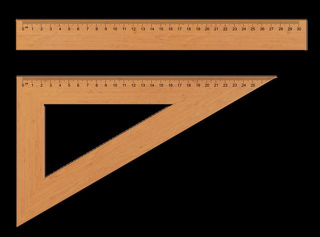 定規と三角定規