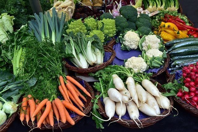 豊富な種類の野菜