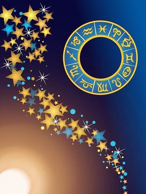 12星座記号と星のイラスト
