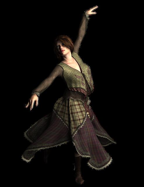 自由に踊る女性