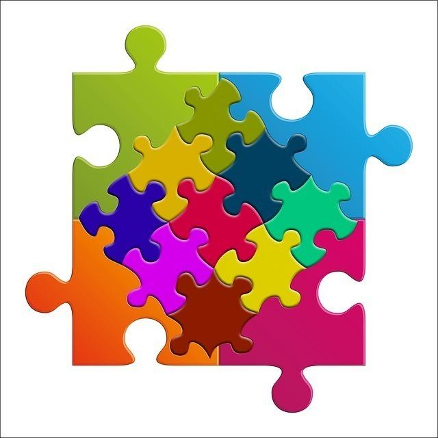 カラフルなジグソーパズル