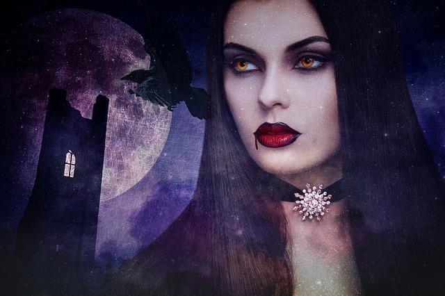美しい女性ヴァンパイア(吸血鬼)