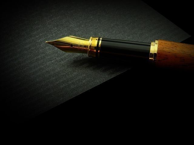 家の中の万年筆