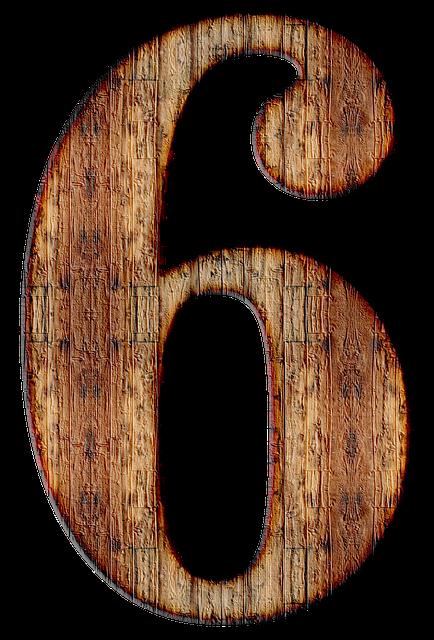 【6】のエンジェルナンバーの意味